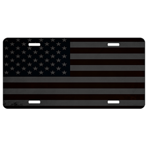Hidden American Flag Tactical License Plate - Car Tag Vanity Plate