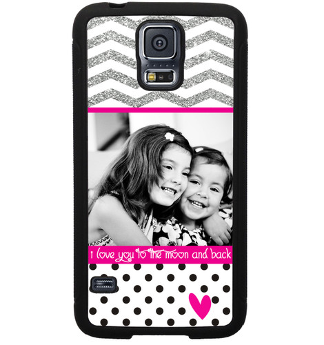 Personalized Photo Samsung Galaxy Case - I Love You To The Moon