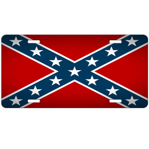 Rebel Car Tag - Confederate License Plate - Stars and Bars