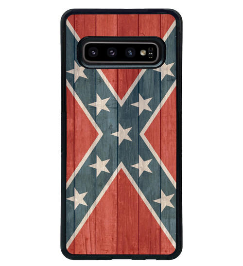 Confederate Flag Samsung Galaxy Case Distressed Wood - Rebel Flag - Stars and Bars s10 s10e plus s9 s8 s7 edge s6