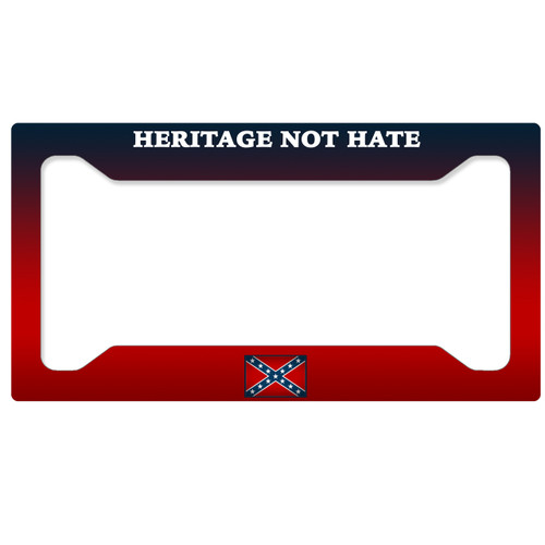 Rebel Flag License Plate Frame - Heritage Not Hate