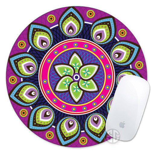 Colorful Hipster Mandala Mouse Pad
