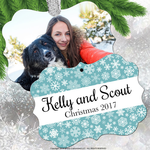 Personalized Christmas Ornament Photo Picture Custom - Double Sided
