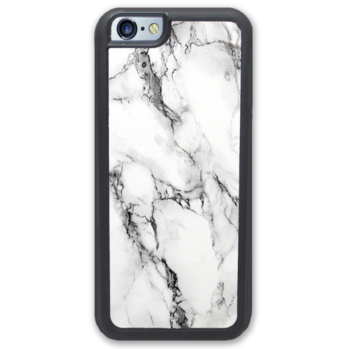 Black White Marbled Shell iPhone Case