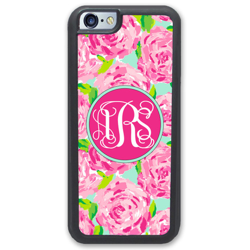 Pretty Pink Roses iPhone Case Monogrammed