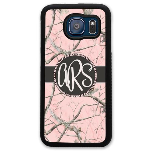 Monogrammed Samsung Case - Pink Camo Camoflauge