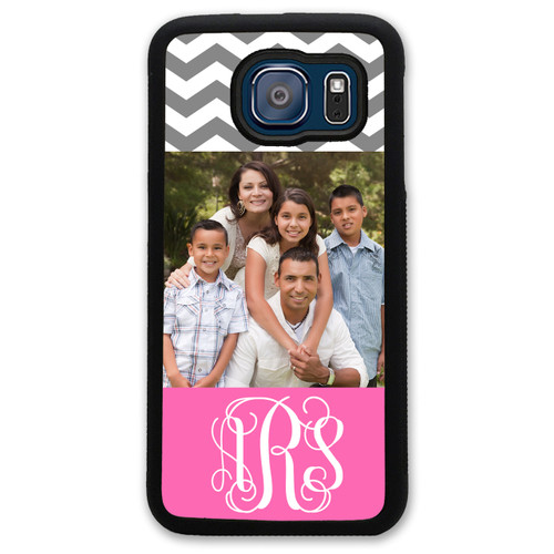 Monogrammed Photo Samsung Case - Your Picture - Chevrons Personalized