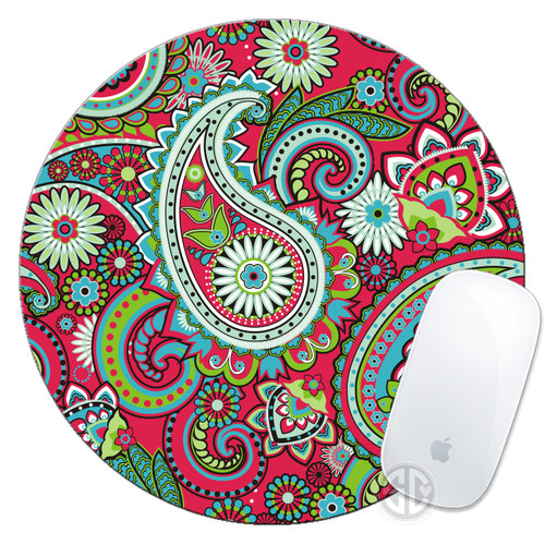 Mouse Pad Red Paisley Mousepad