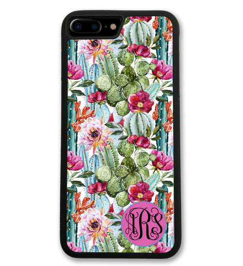 Cactus iPhone Case - Succulents Monogrammed