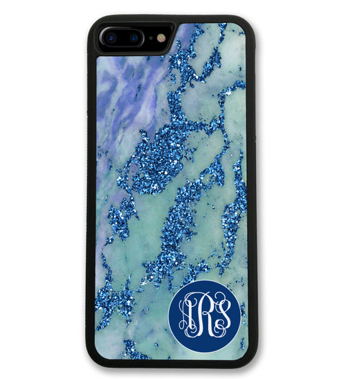 Blue Marbled iPhone Case