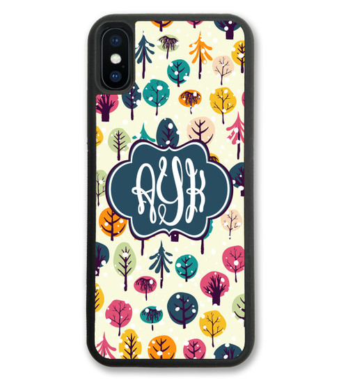 Cute Christmas iPhone case monogrammed