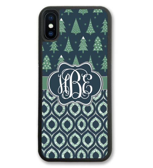 Christmas Trees iPhone Case Monogrammed