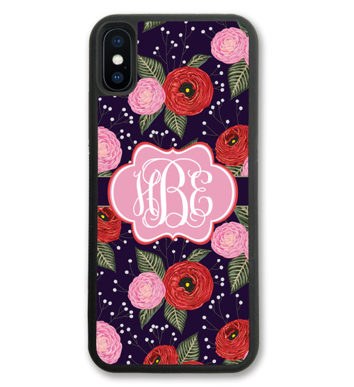 Floral iPhone X Case, iPhone 10 Case, iPhone 8 Case, iPhone 8 Plus Case, iPhone 7 Plus Case, iPhone 7 Case, iPhone 6 Case, iPhone 6S Case, iPhone 6 Plus Case, iPhone 6S Plus Case, iPhone 5 Case, iPhone 5S Case, iPhone SE Case
