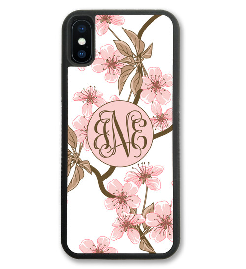 Cherry Blossom iPhone Case Monogrammed