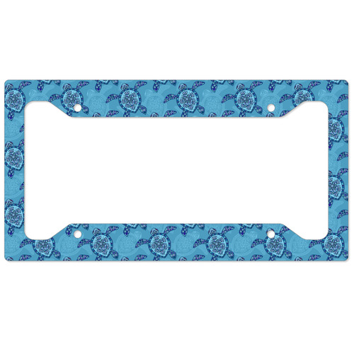Sea Turtles Auto License Plate Frame, Car Tag Frame, License Plate Cover