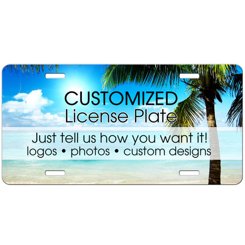 Custom license plate car tag logo picture photo image bulk