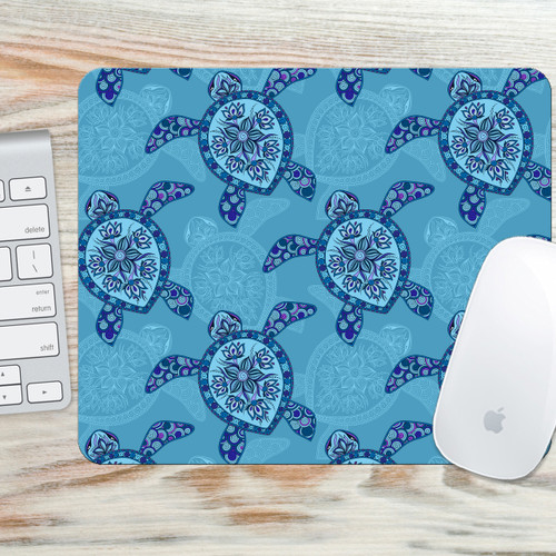 Turtles Mouse Pad - Sea Turtle Mouse Pad - Turtle Mouse Mat