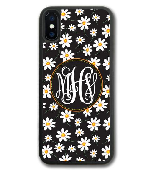 Daisy Dreamin Black Floral iPhone Case, Daisies