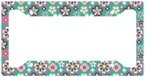 License Plate Frame Spring Floral Car Tag, Auto License Plate Frame, License Plate Cover