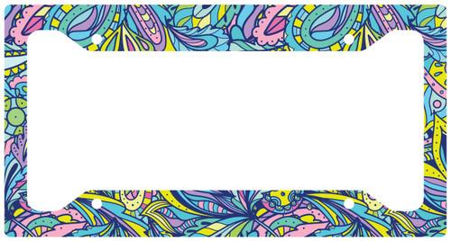 License Plate Frame Springtime Doodle Car Tag, Auto License Plate Frame, License Plate Cover