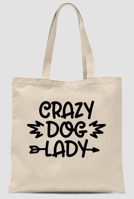 Dog Lovers Large Reusable Shopping Bag Tote Linen Canvas Washable