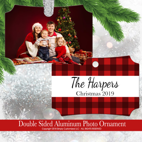 Custom Photo Christmas Ornament Photo Personalized