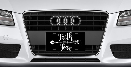 Boho Arrow Faith Over Fear License Plate - Car Tag Vanity Plate