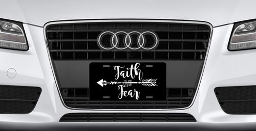Boho Arrow Faith Over Fear License Plate - Car Tag Vanity Plate