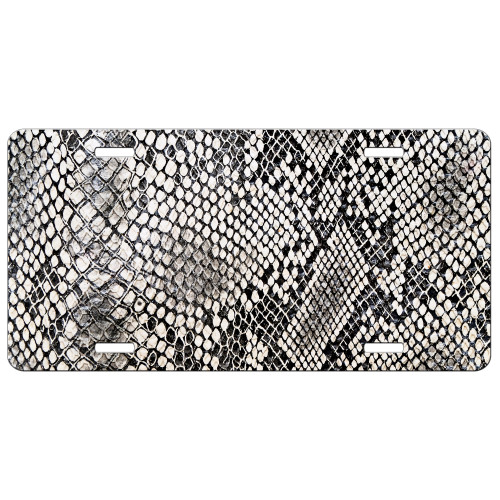 Snake Skin Front License Plate Car Tag