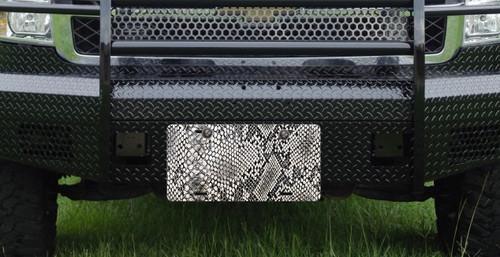 Snake Skin Front License Plate Car Tag
