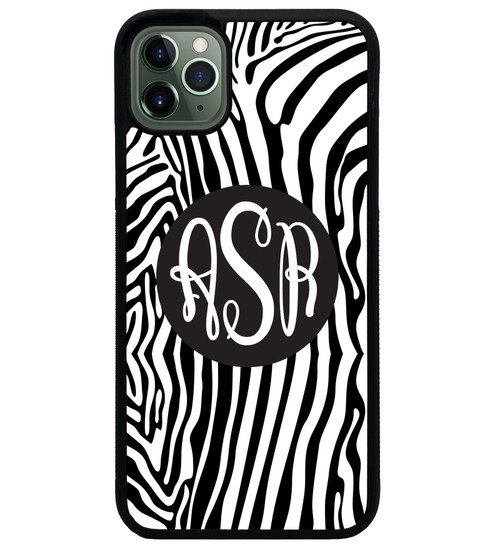 Zebra Stripes iPhone Case Monogrammed
