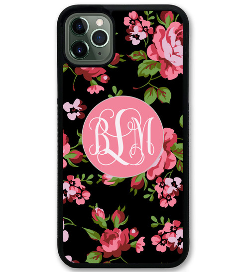 Black Classic Roses Floral iPhone 11 Case