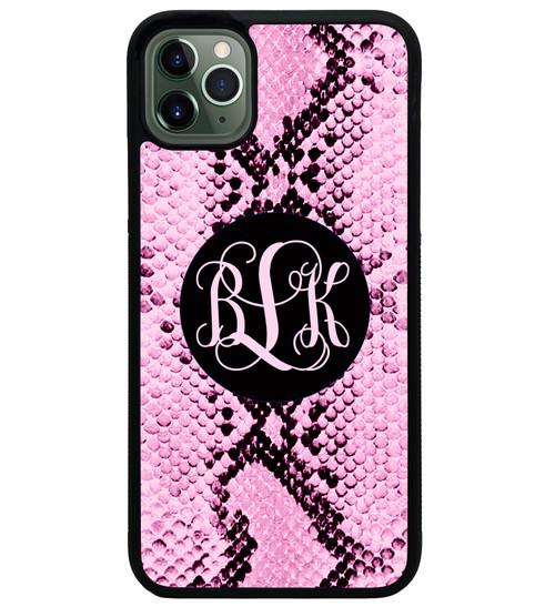 Pink Snake Skin iPhone 11 Case