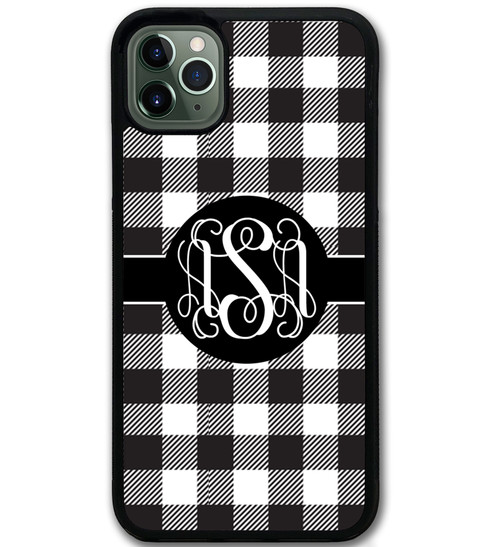 Buffalo Plaid Black White iPhone 11 Case
