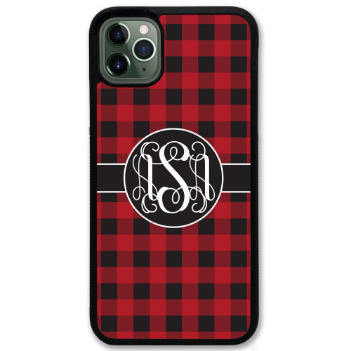 Buffalo Plaid Red Black White iPhone 11 Case