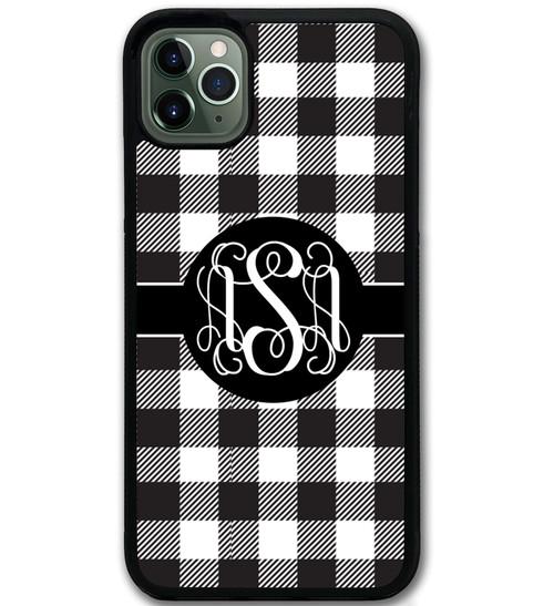 Buffalo Plaid Black White iPhone 12 Case