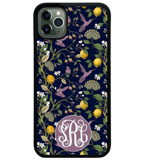 Purple Hummingbirds iPhone 12 Case