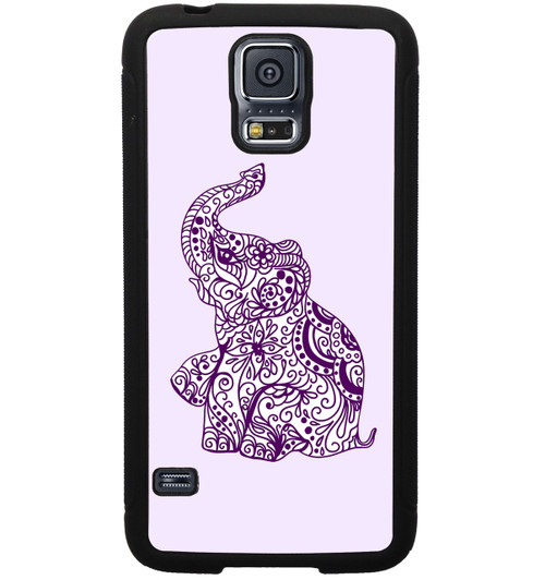 Samsung Galaxy Case - Purple Elephant - Ethnic - Samsung S5 S4 S3 Note 2 Case