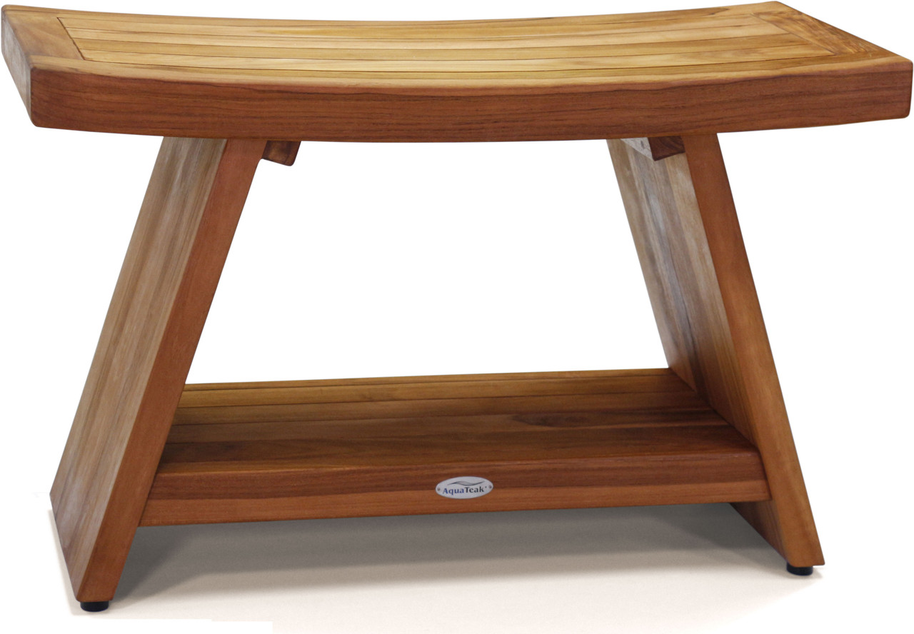 Picture of: 30 Asia Teak Shower Bench With Shelf Quality Teak Bench Products I Aquateak