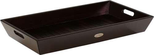 Moa™ Mocha-Shield Large Teak Amenities Tray with Handles