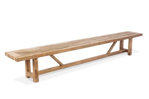"AquaVINEYARD 118"" Reclaimed Teak Backless Bench"