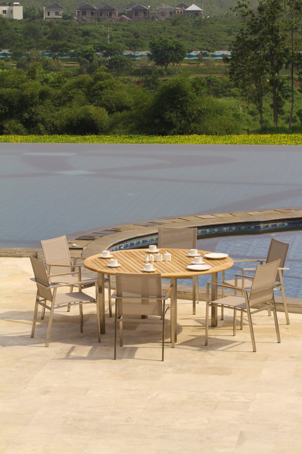 "AquaBLEND 63"" Round Dining Table"