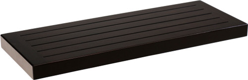 "24"" Moa™ Mocha-Shield Teak Flat Wall Shelf"