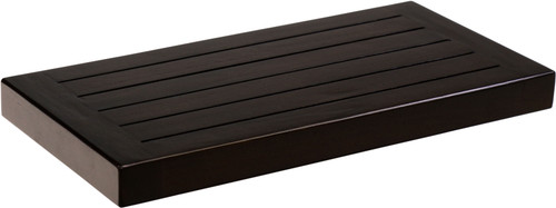 "18"" Moa™ Mocha-Shield Teak Flat Wall Shelf"