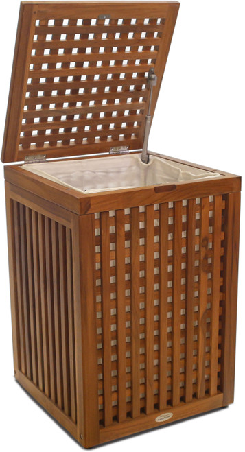 Grate™ Large Square Teak Hamper