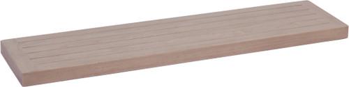 "36"" Moa-Elite™ Gray Teak Flat Wall Shelf"