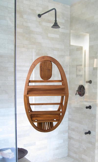 The Original Moa™ Teak Shower Suction Holder
