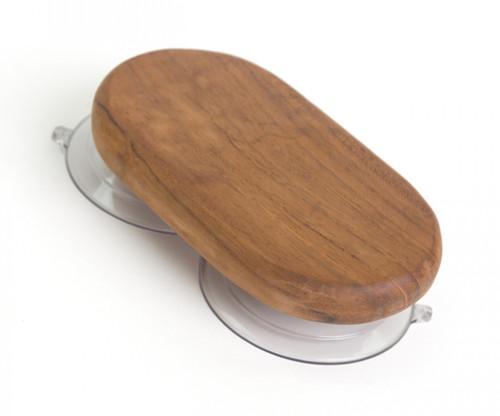 teak soap holder