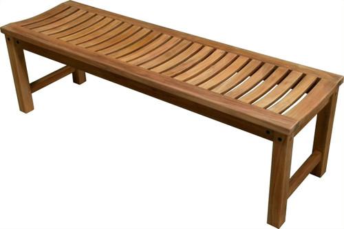 """47"""" Aqua Stratus Teak Indoor & Outdoor Bench"""