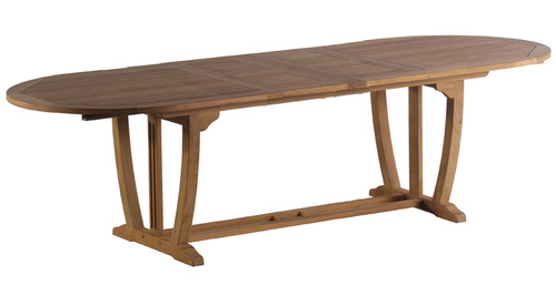 """AquaMAJESTIC™ 122"""" Oval Double Extension Table"""